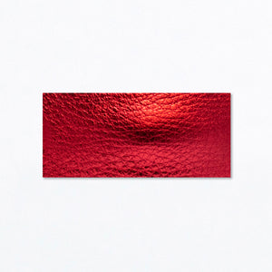 Snap Clip | Metallic Red Leather