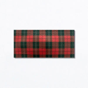 Snap Clip | Christmas Plaid Leather