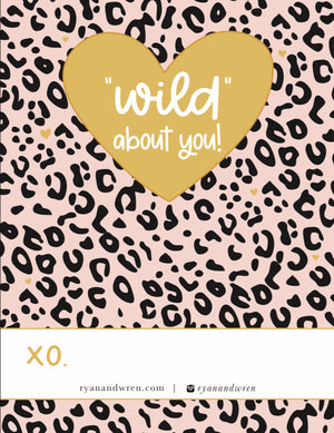 'Wild About You' Valentine Card