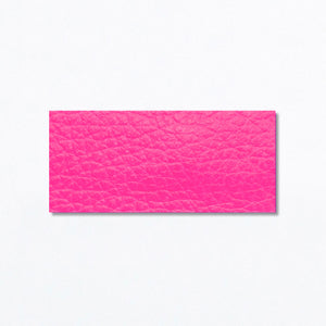 Snap Clip | Neon Pink Leather