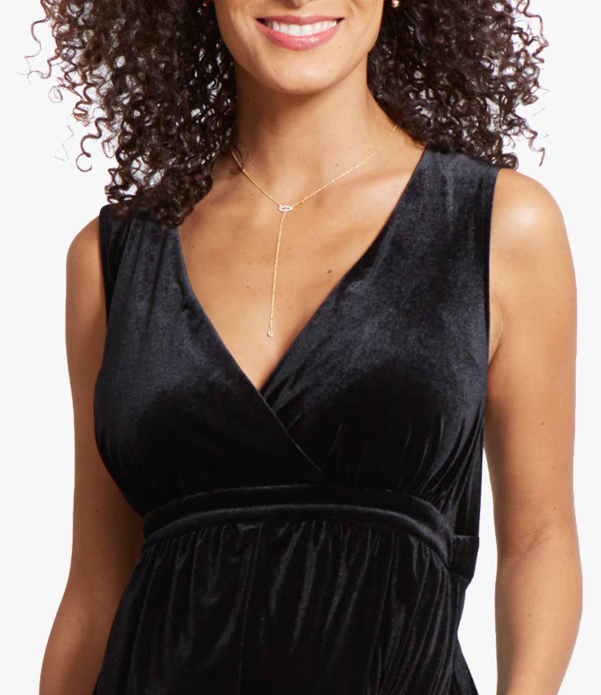 FASHION + FUNCTIONA crossover neckline makes this epic jumpsuit a postpartum score too—easy access for breastfeeding or pumping.