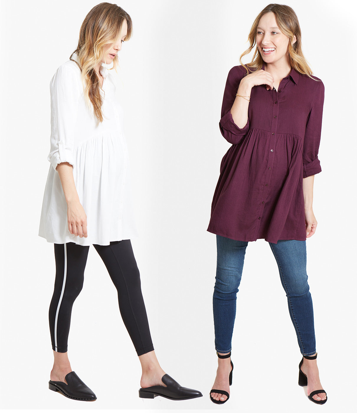 VERY VERSATILEThis take on a button-down can go workday casual (pair with a legging and mules) or date night (pair with denim and heels). In other words, it's a maternity wear staple.
