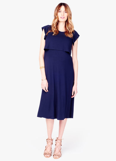 Double Layer Midi Dress + Nursing