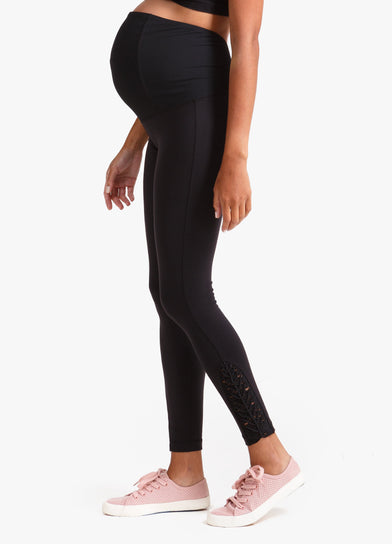 Macrame Maternity Workout Legging with Crossover Panel®