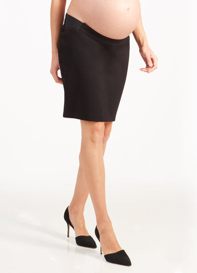 Ponte Maternity Pencil Skirt