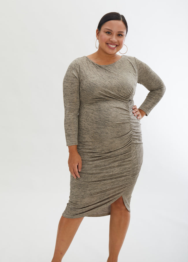 "Model is 5'10"", 4 months pregnant, and wears size S."