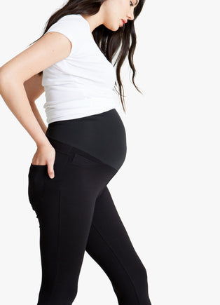 Ponte 5-Pocket Maternity Legging ft. Crossover Panel®