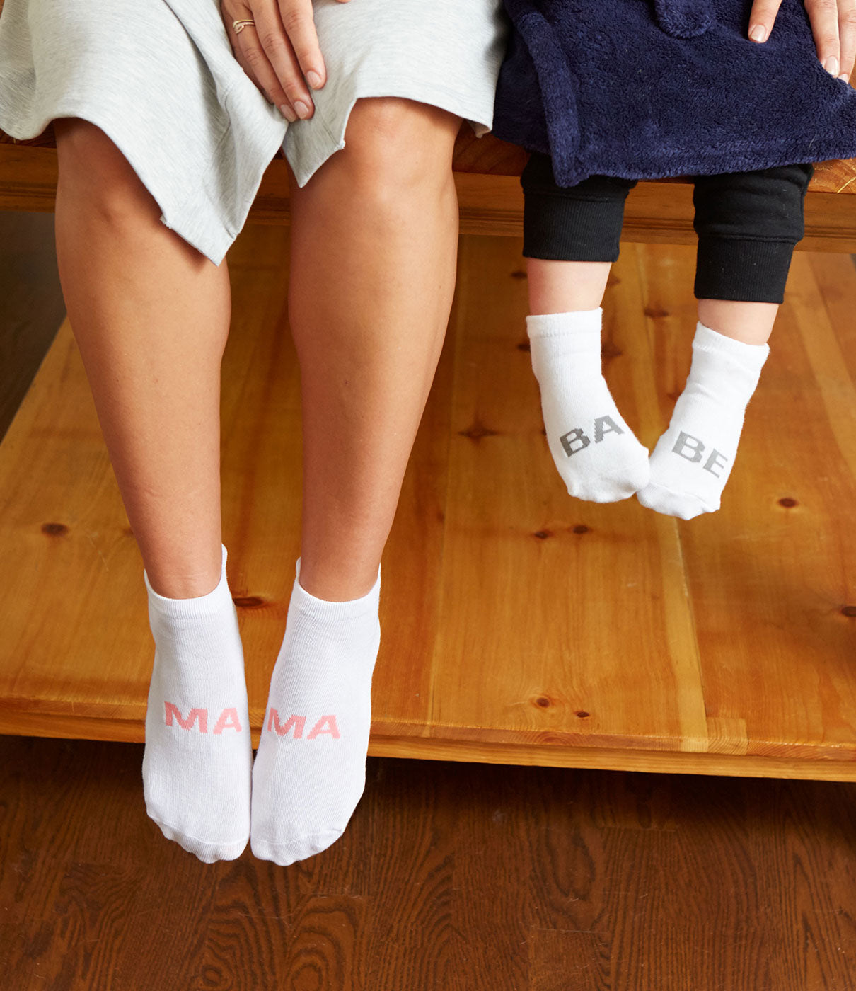 Make It A PairCheck out the Babe Socks for an adorable mommy-and-me look.