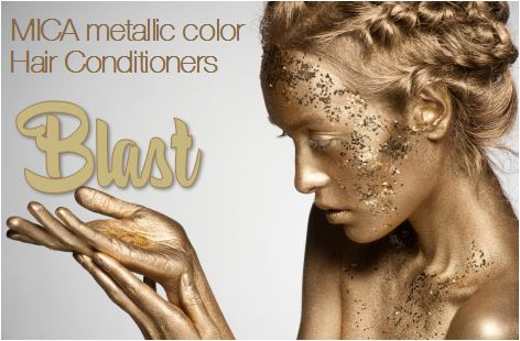 Blast - metallic color hair conditioner, MICA luminescent hair conditioners