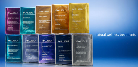 'Malibu Wellnes Products' - ALL Treatment Packs + plastic Cap - Killerstrands Hair Clinic - 9
