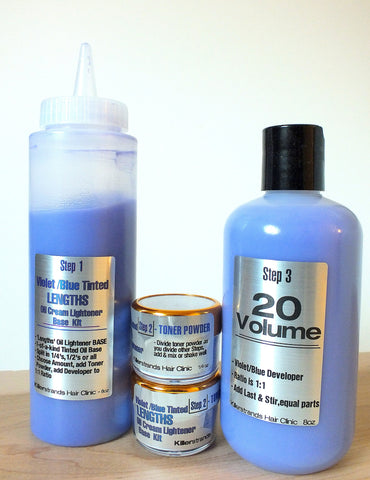 # Creamy Oil Lightener Kit  ( both Violet/Blue & White) ---