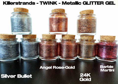 ' #1 - TWINK ' Silky Glitter Hair Gel by Killerstrands
