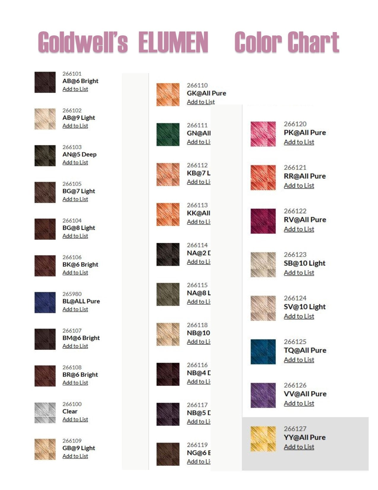 100 41 Best Hair Goldwell Color 23 Trendy Shades Of