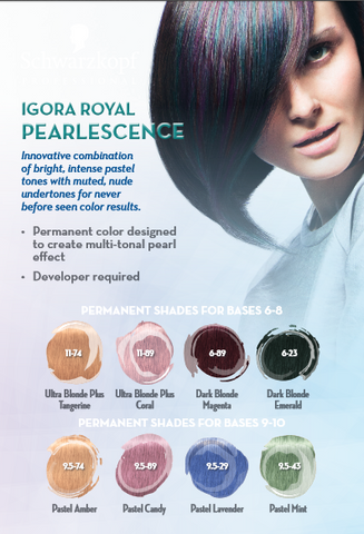 'Pearlessence PASTEL Hair Color' - IGORA ROYAL by SCHWARTZKOPF - Killerstrands Hair Clinic - 8
