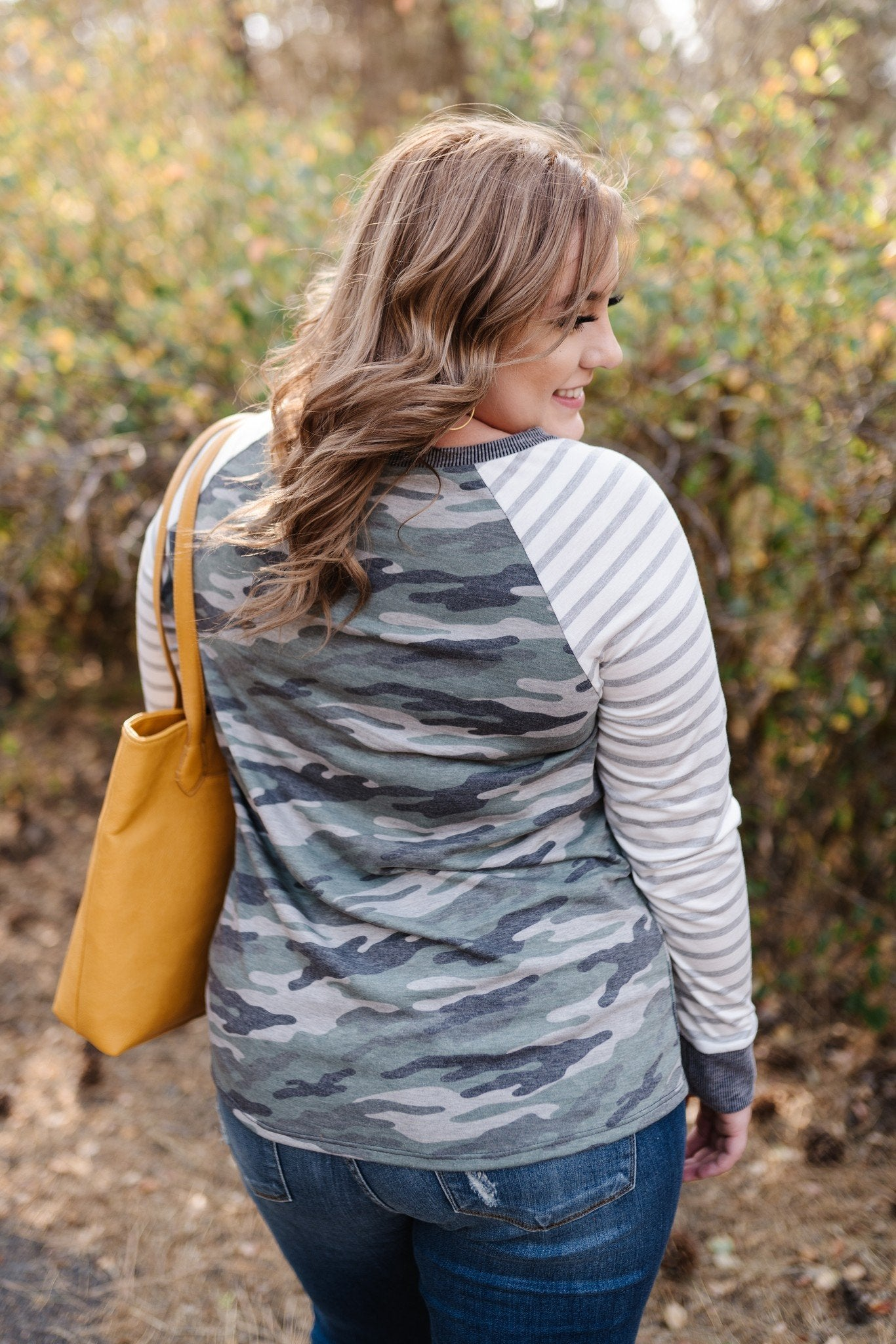 Hideaway With Me In Camo Stripes,  - Lola Cerina Boutique