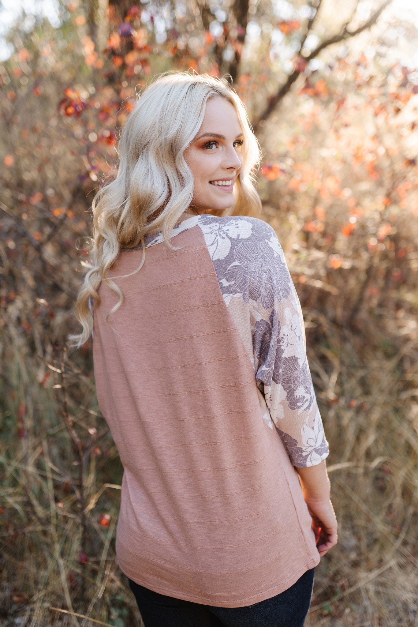 Colors Of The Wind Floral Sleeved Top - Lola Cerina Boutique
