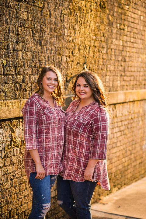 Flannel Acid Washed Top | BURGUNDY PLAID,  - Lola Cerina Boutique