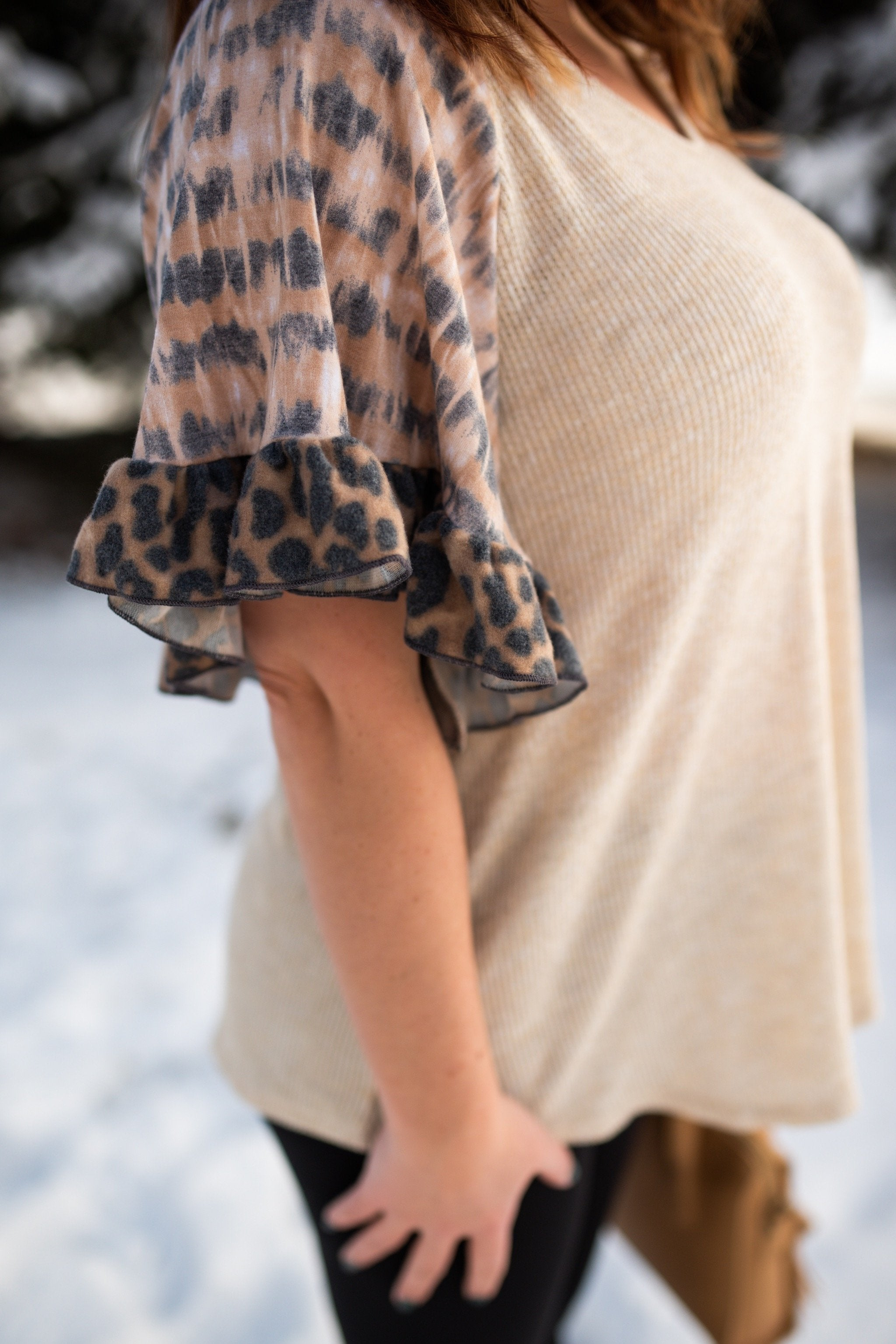 It's A Jungle Out There Top In Taupe,  - Lola Cerina Boutique