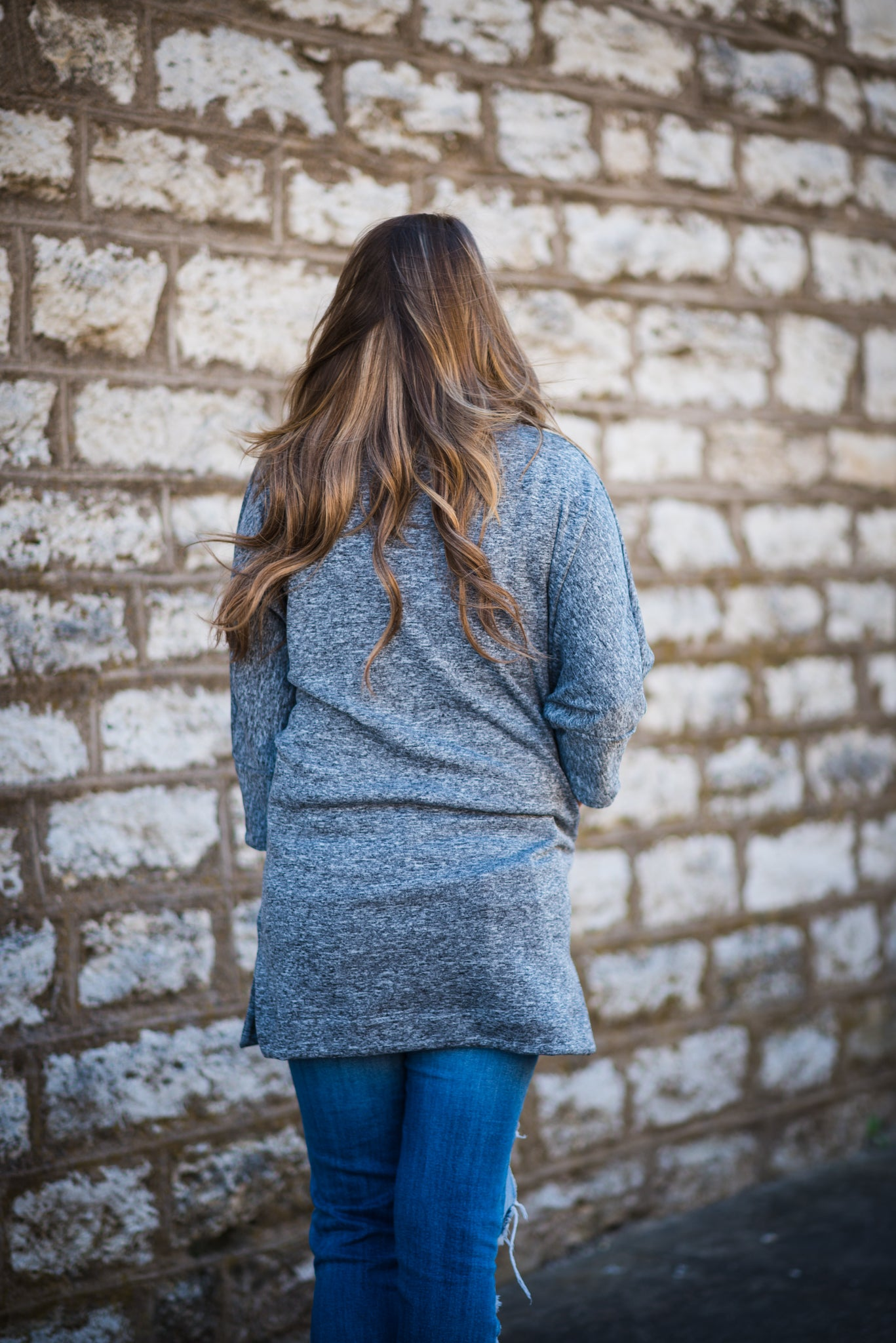 Maudye Jayne 3/4 Sleeve Cowl Neck Sweater | MJ Swoodie - Gray, Unclassified - Lola Cerina Boutique