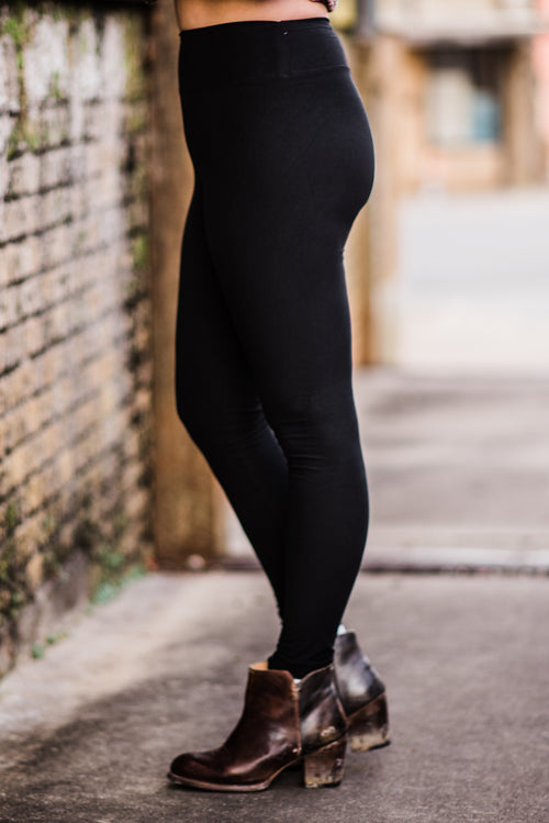 Leggings | BLACK, Bottom - Lola Cerina Boutique