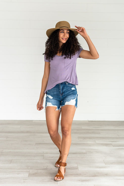 So Wonderful Short Sleeve Tee | Lilac - Lola Cerina Boutique