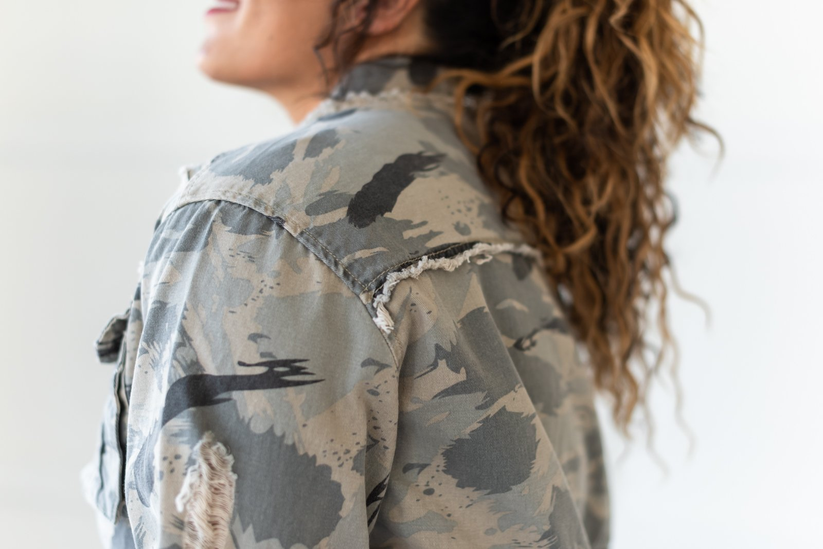 Sweet Camo Twill Jacket | POL - Lola Cerina Boutique