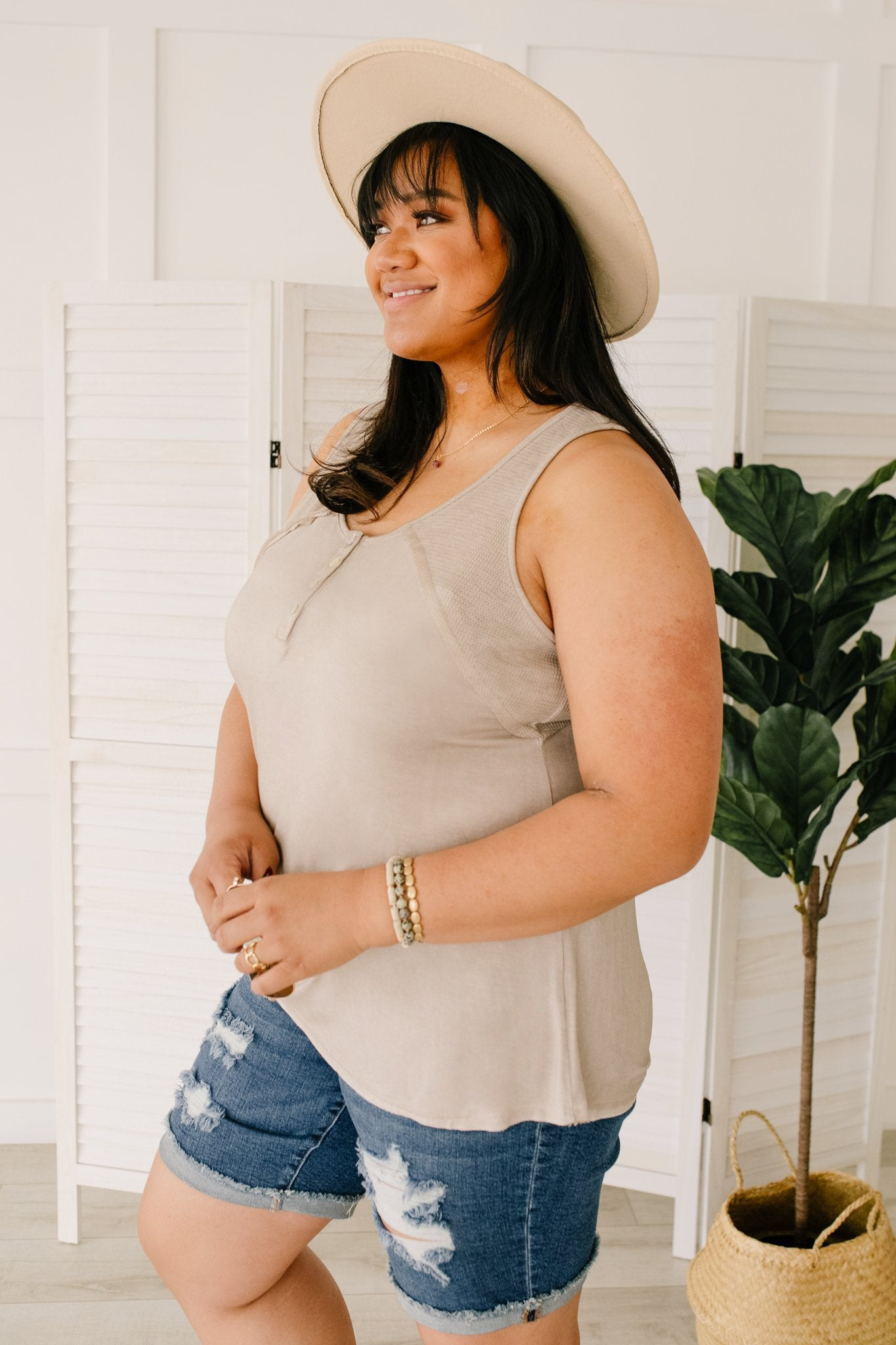 Thank Your Tank in Taupe | POL - Lola Cerina Boutique