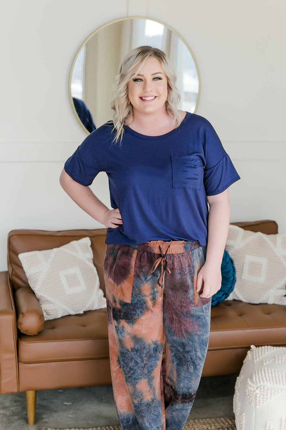 Time To Crow Purple Multi Joggers - Lola Cerina Boutique