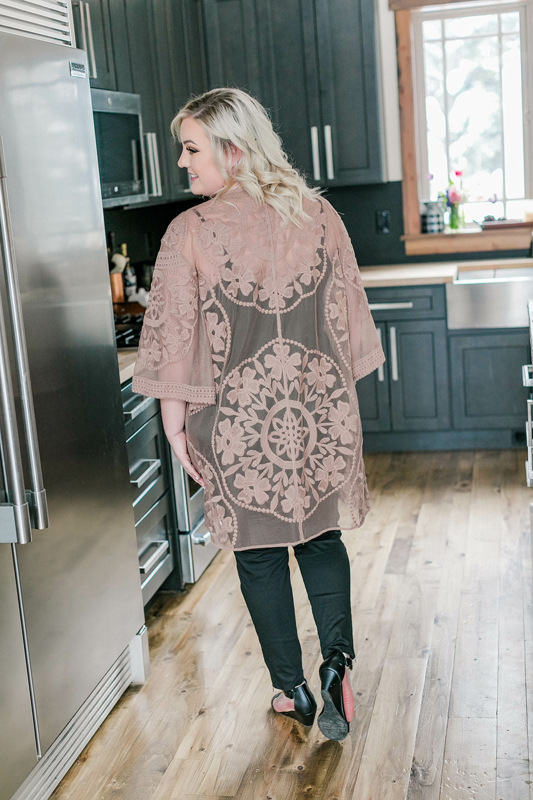 All Dolled Up Lace Cardigan In Mocha - Lola Cerina Boutique