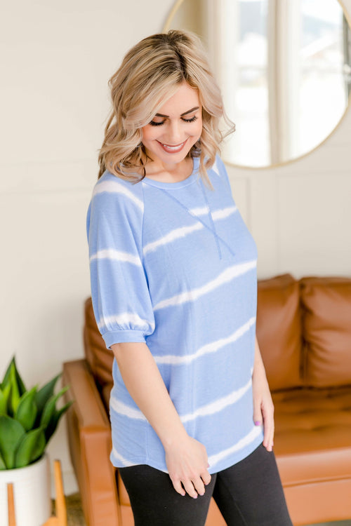 X Marks The Spot Blue Ombre Top - Lola Cerina Boutique