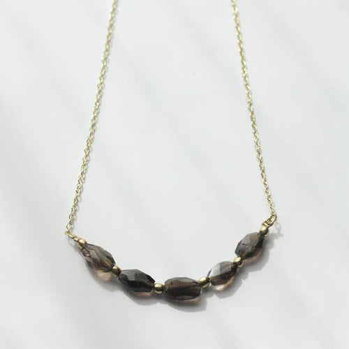 Smoky Quartz Necklace, Accessories - Lola Cerina Boutique