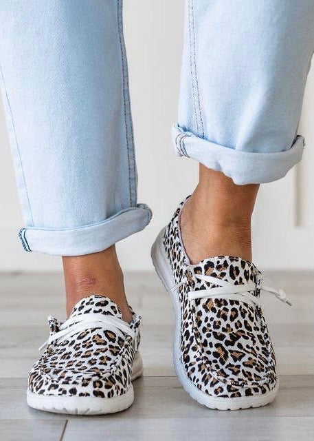 Very G Gypsy Jazz Cheetah Sneaker | White & Tan - Lola Cerina Boutique
