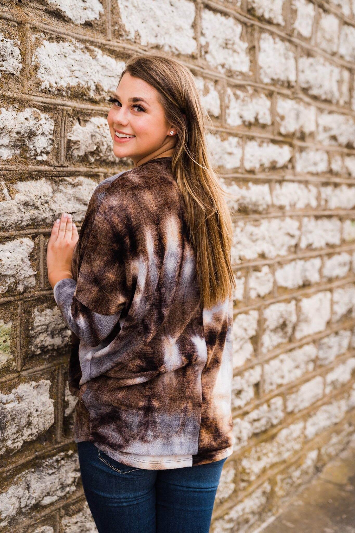Freebird Tie Dye Long Sleeve Top, Unclassified - Lola Cerina Boutique
