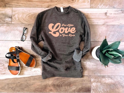 PREORDER | GRAPHIC Luxe Raglan -  Put a Little Love,  - Lola Cerina Boutique