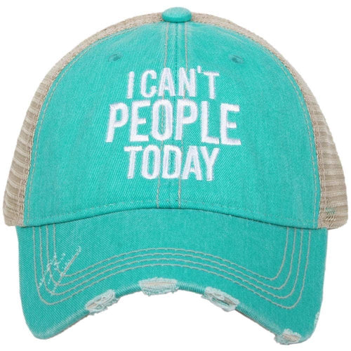 I Can't People Hat | Teal