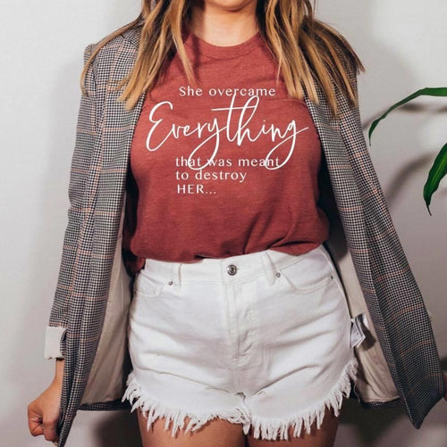 PREORDER RESERVE Graphic Tee - She Overcame Everything