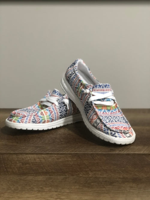 Very G Gypsy Jazz Chaska Sneaker | White Print,  - Lola Cerina Boutique