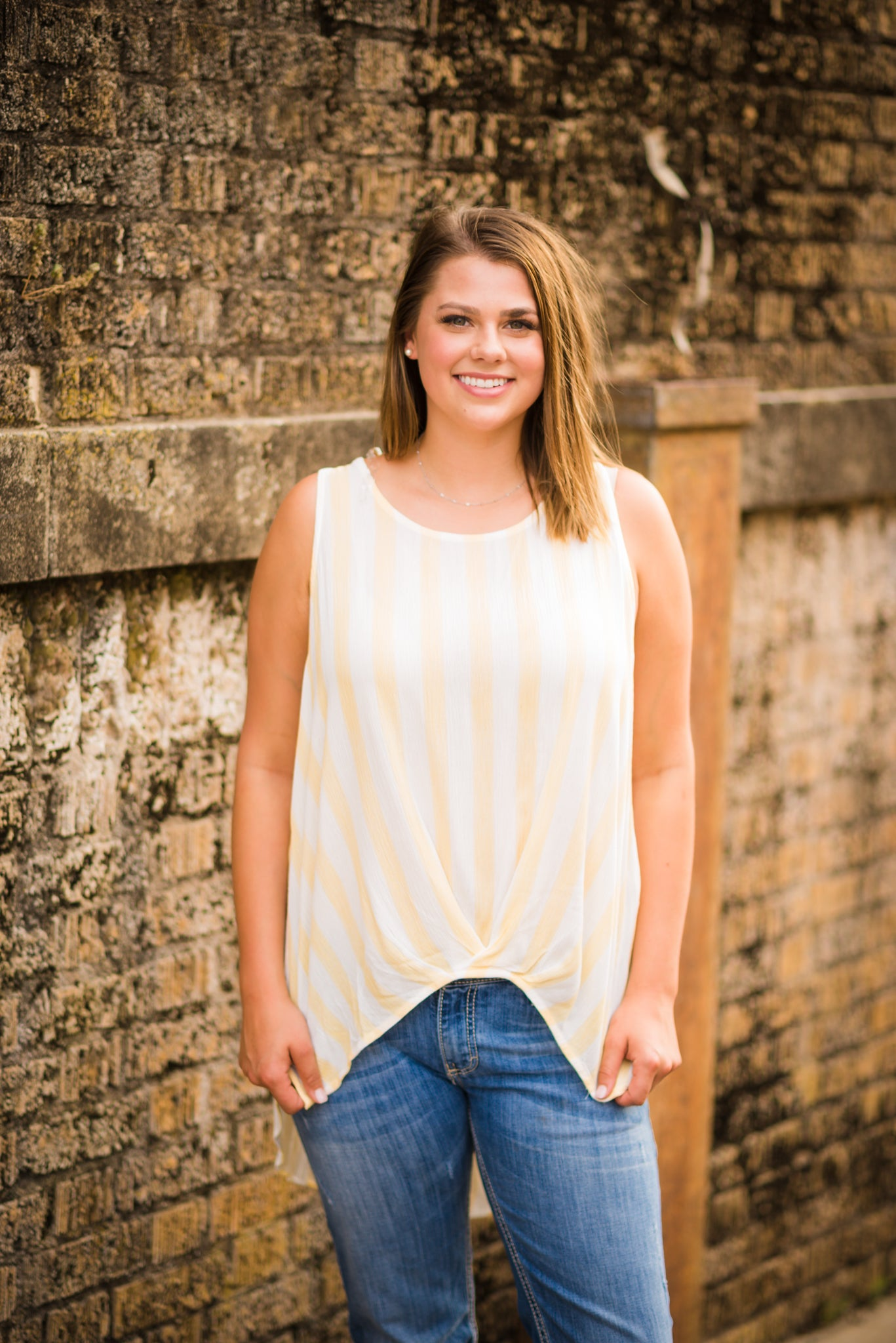 Sweet Honey Striped Tank, Tops | Sleeveless - Lola Cerina Boutique
