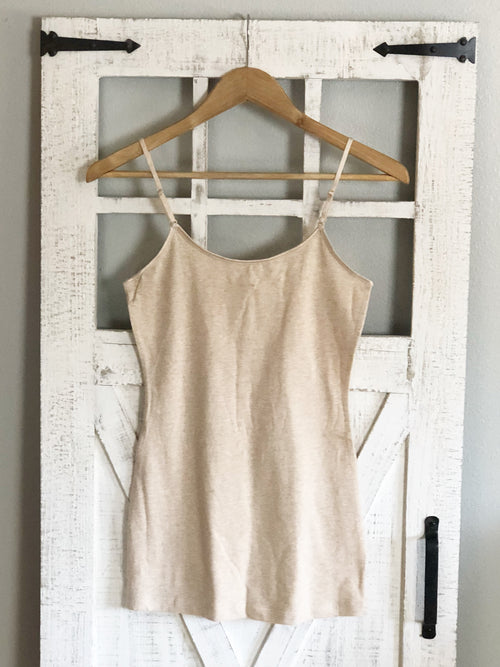 Essential Cami | HEATHERED BEIGE,  - Lola Cerina Boutique