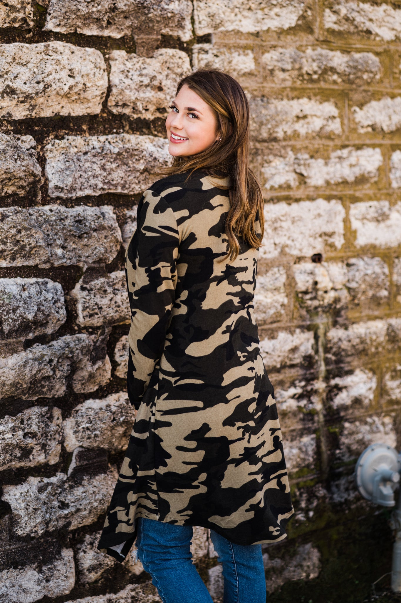 Jasmine Long Cardigan | Camo, Unclassified - Lola Cerina Boutique