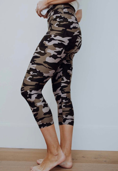 PREORDER Capri Legging | Olive Camo, Bottom - Lola Cerina Boutique