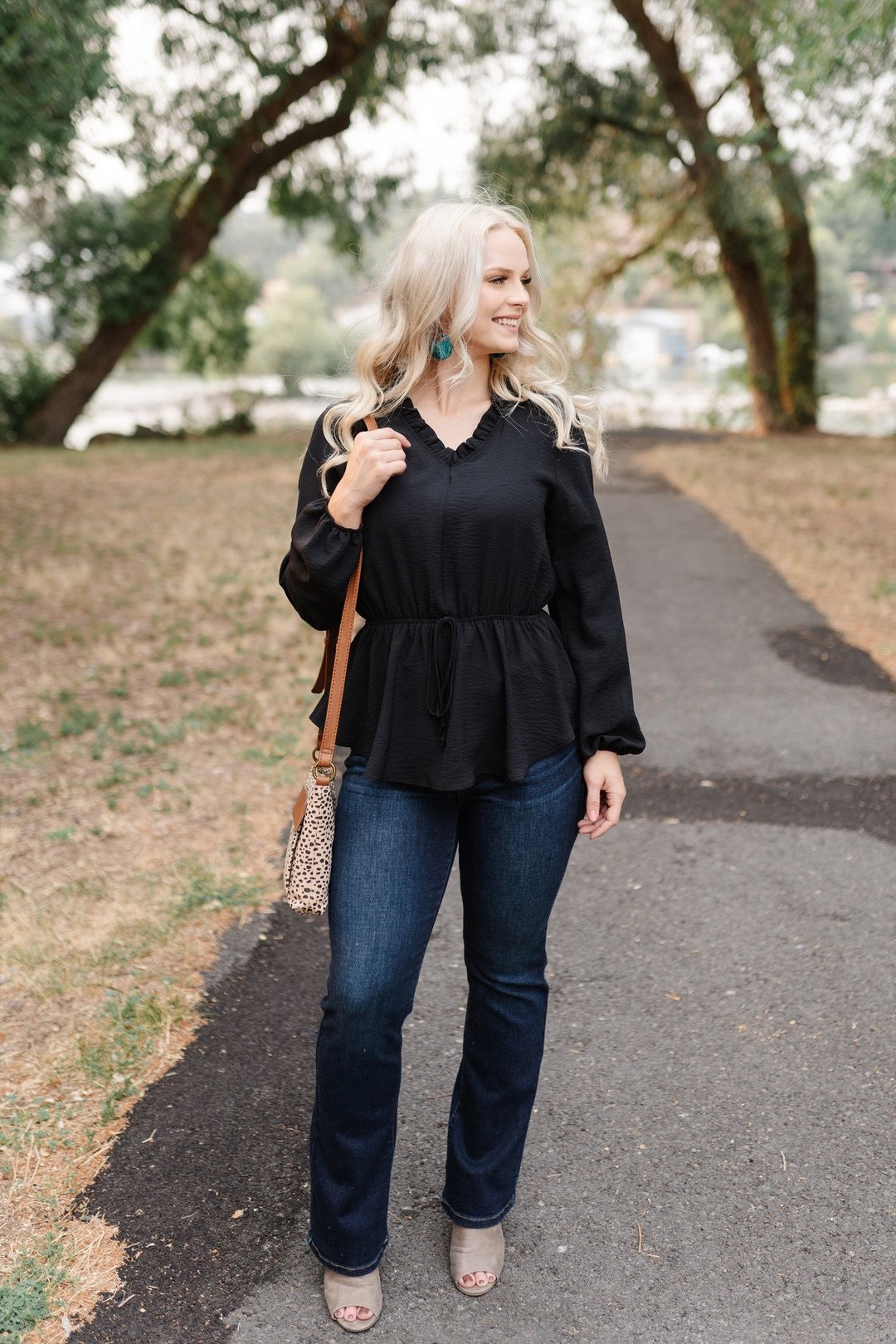 Dance Until Midnight Peplum Top - Lola Cerina Boutique