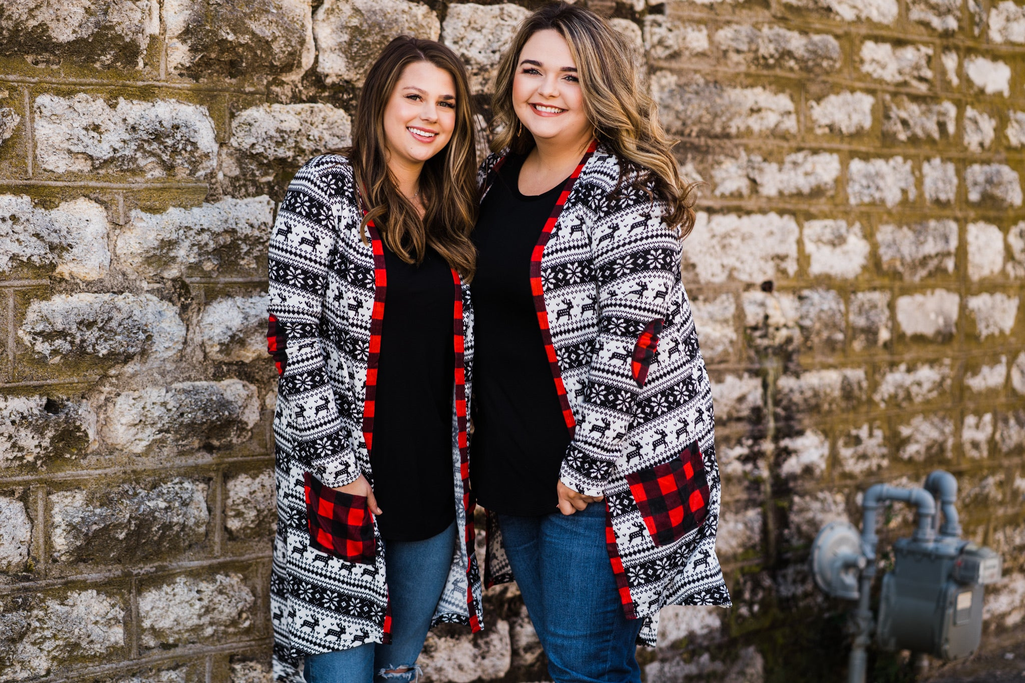 Everyday Cardigan | Reindeer Fair Isle, Unclassified - Lola Cerina Boutique