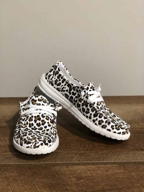 Very G Gypsy Jazz Cheetah Sneaker | White & Tan,  - Lola Cerina Boutique