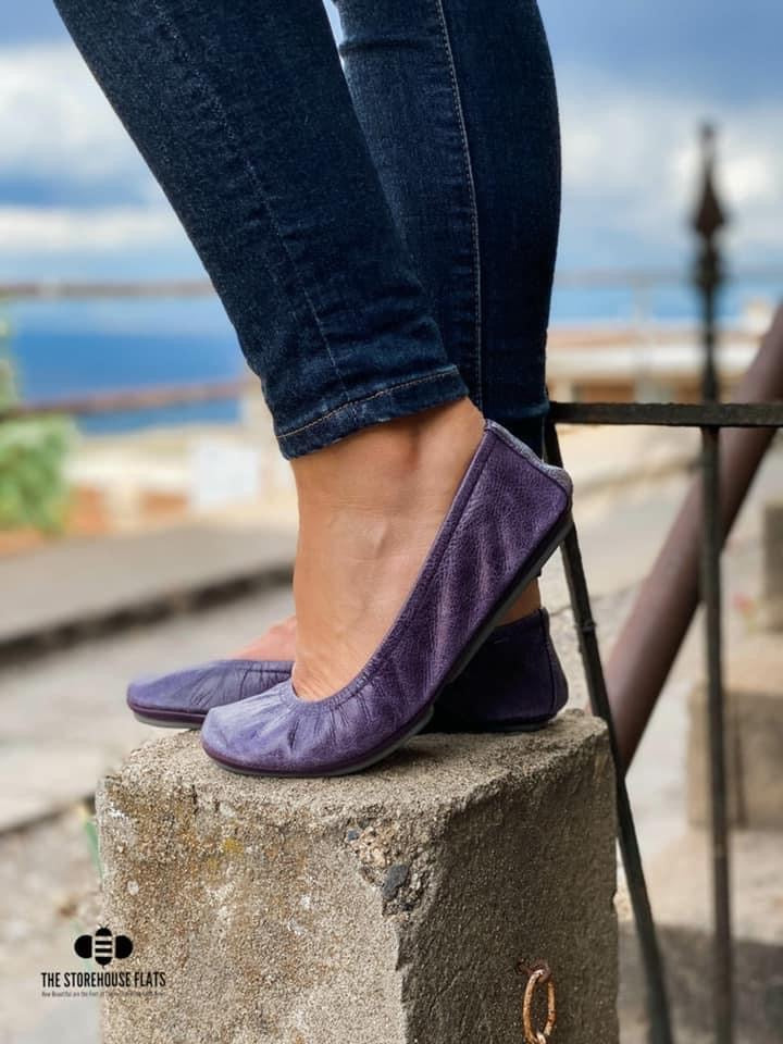 August PREORDER Storehouse Flats |  Vintage Purple Oil Tanned