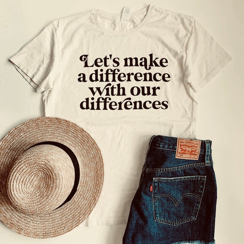 GRAPHIC Tee Vintage Wash - Let's Make a Difference