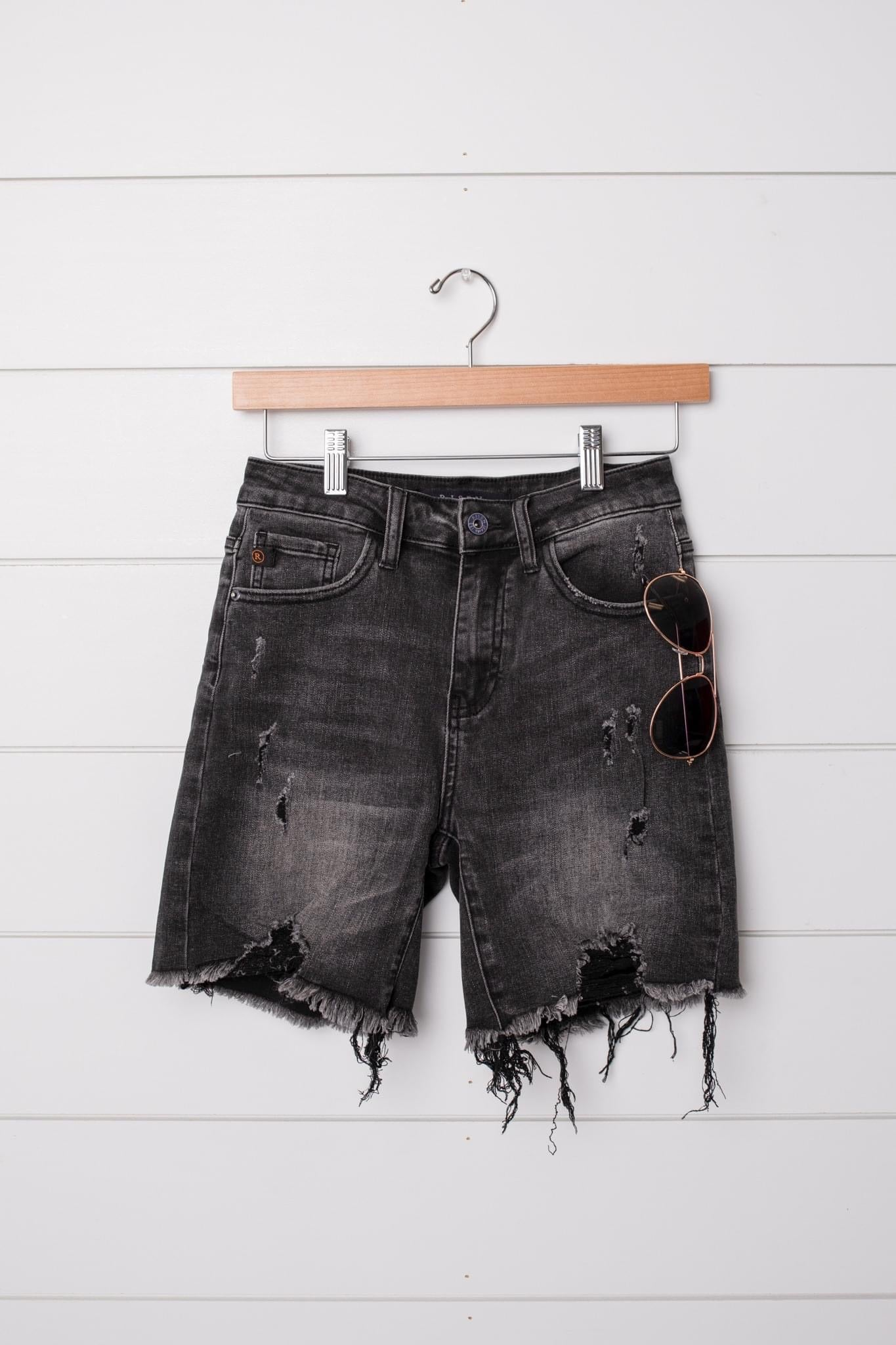 Distressed and Destroyed Denim Shorts by Risen, Womens - Lola Cerina Boutique