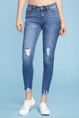 Release Hem Distressed Skinny Jean by Judy Blue - Lola Cerina Boutique