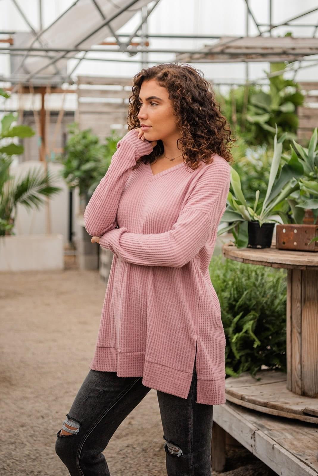 Easy Days Ahead Thermal Knit Sweater | 2 Colors, Clothing - Lola Cerina Boutique