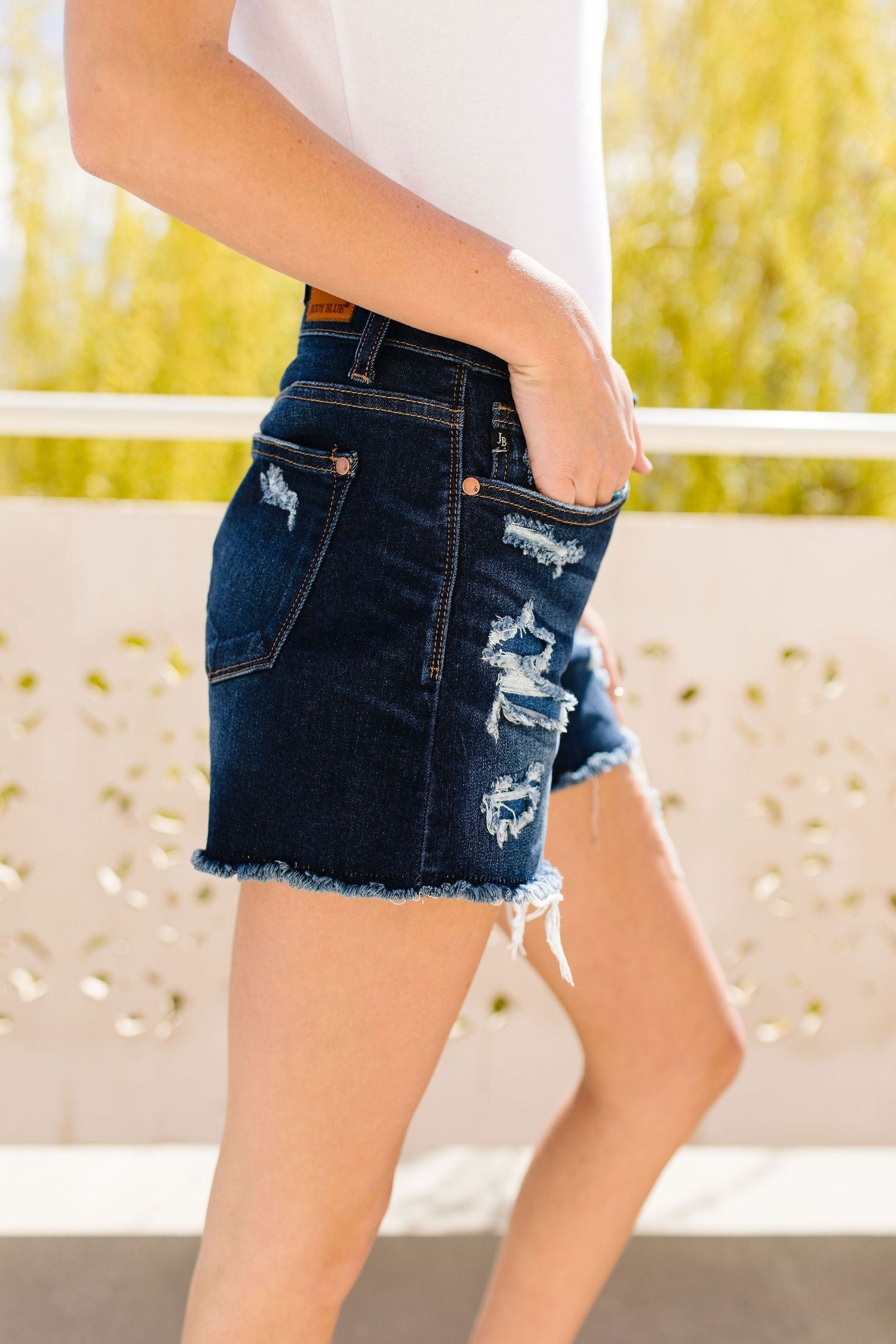 All Patched Up Destroyed Shorts by Judy Blue,  - Lola Cerina Boutique